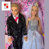 Набор кукол жених и невеста 99026 Барби, Кен семья, свадба