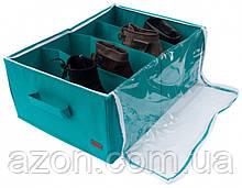 Органайзер для взуття на 4 пар (лазурний)