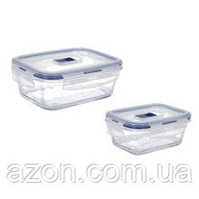 Пищевой контейнер Luminarc Pure Box Active набор 2шт прямоуг. 380мл/820мл (P7644)