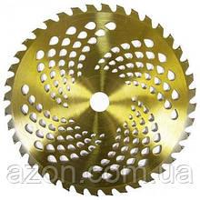 Ніж для газонокосарки GARTNER до садового тримеру увігнутий 255х25.4 мм 40 ТВЗ зубців 4.8 мм (40038048)
