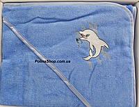 """Детское полотенце уголок для купания PHILIPPUS """"Дельфин"""""""