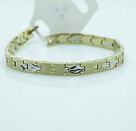 Тонкий магнитный браслет из стали для мужчин. Красивые мужские браслеты оптом. 104