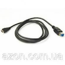 Дата кабель USB 3.0 Type-C to BM 1.5 m PowerPlant (KD00AS1275)