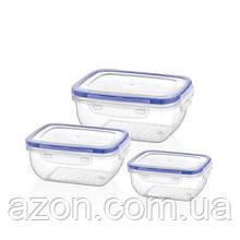 Пищевой контейнер Bager Cook&Lock 3 шт 0.4, 0.8, 1.4 л (BG-504)
