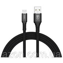 Дата кабель USB 2.0 AM to Micro 5P 2.0 m Jagger T-M814 Black T-PHOX (T-M814(2) black)