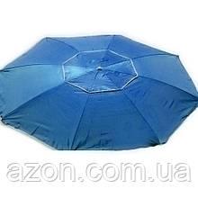 Зонт пляжний антиветер d2.0м срібло Stenson MH-2684 синій