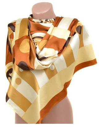 Восхитительный женский шарф 60 на 172 см набивной шелк 10840-L2