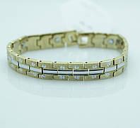Эффектный магнитный браслет из стали для мужчин. Мужские браслеты оптом во Львове. 107