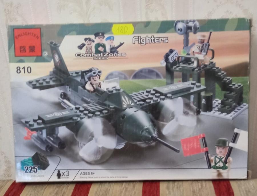 Конструктор самолёт combat 225 деталей