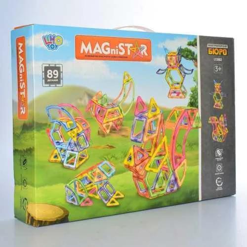 """Магнітний конструктор, конструктор для дітей """"Тварини"""", в коробці, LT2002, на 89 деталі"""