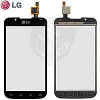 Touchscreen (сенсорный экран) для LG Optimus L7 2 P715, черный, оригинал