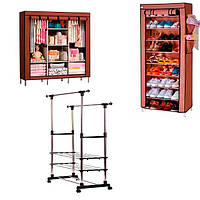 Складные шкафы для одежды и обуви, телескопические полки и этажерки для ванных комнат