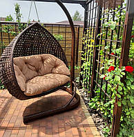 Подвесное двухместное кресло-кокон Дабл Премиум со стойкой, до 250 кг, 130*82*135 см, цвет на выбор + Гарантия