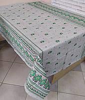 Лляна скатертина р. 120*150 на кухонний стіл N-816