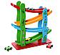 Дерев'яна іграшка для малюків Трек MD 2688, висота 28 см, 4 машинки, фото 3