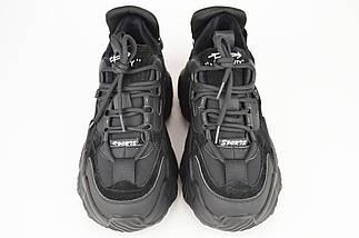 Кроссовки на байке V.I.konty 058 36 Черный кожа/замша, фото 2