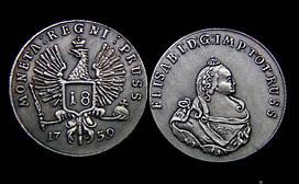 18 грошей 1759 года Елизавета для Пруссии
