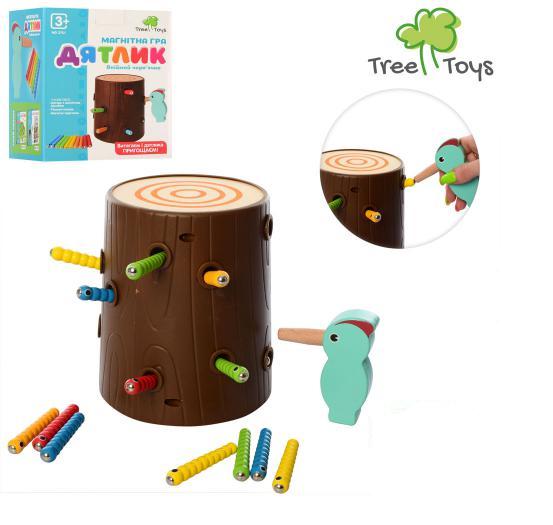 """Дерев'яна гра для дітей """"Дятлик"""" MD 2751, в коробці"""