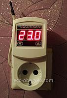 МТР-2 16А терморегулятор воздуха розеточный цифровой с заземлением универсальный., фото 1