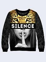 Світшот жіночий 3D Мовчання SILENCE, фото 1