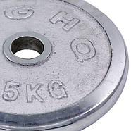 Блины 52мм 15кг (диски) хромированные HIGHQ SPORT, фото 3