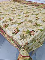 Лляна скатертина р. 120*150 на кухонний стіл N-828