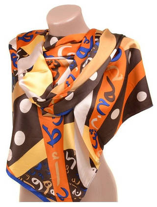 Удивительный женский шарф 60 на 172 см набивной шелк 10840-Q1