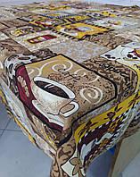Лляна скатертина р. 120*150 на кухонний стіл N-831