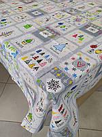 Лляна скатертина р. 120*150 на кухонний стіл N-832