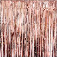 Шторка фольгированная для фотозоны, Цвет: Розовое золото. Размер: 2м*1м
