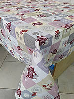 Лляна скатертина р. 120*150 на кухонний стіл N-834