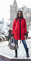 Женское стильное пальто на молнии с карманами