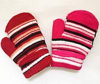 Варежки утепленные на махре девочка 1-3 года Польша