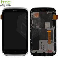 Дисплей + touchscreen (сенсор) для HTC Desire X T328e, с передней панелью, белый, оригинал