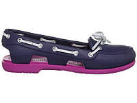 Сандалии женские Crocs (в стиле кроксы, шлепки) резиновые темно-синие