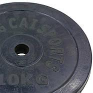 Блины 30мм 10кг (диски) обрезиненные SHUANG CAI SPORTS, фото 2
