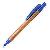 Шариковая многоразовая ручка бамбуковая, чернила синие, бизнес сувениры недорого
