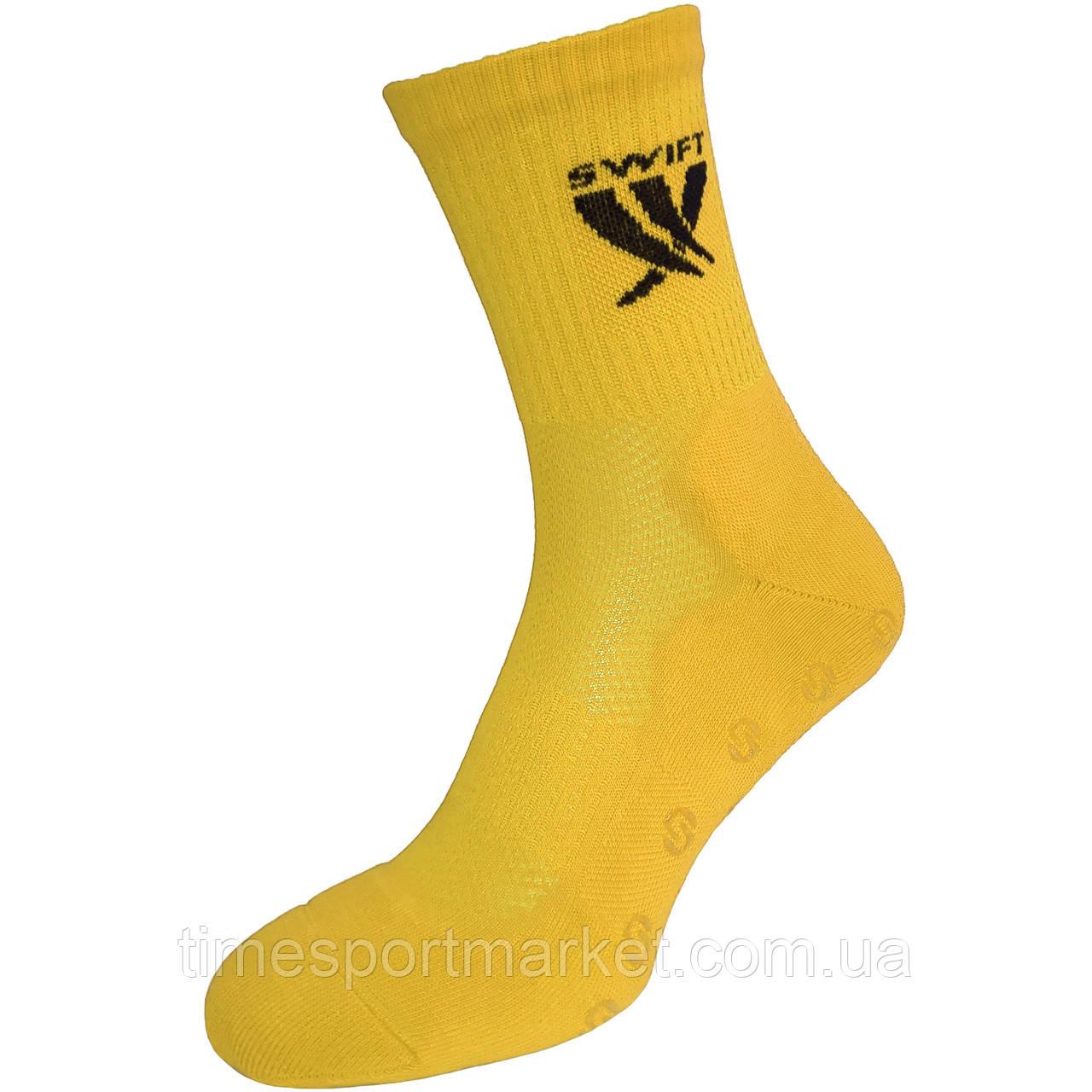 Шкарпетки спортивні SWIFT Anti-Slip PRO, жовті 27 p.