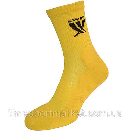 Шкарпетки спортивні SWIFT Anti-Slip PRO, жовті 27 p., фото 2
