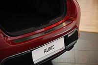 Хром накладка на задний бампер (нерж.) - Toyota Auris (2007-2012)