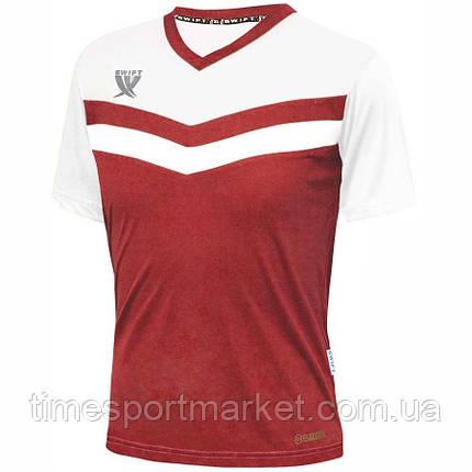 Футболка футбольна Swift Romb CoolTech (червоно/білий), фото 2
