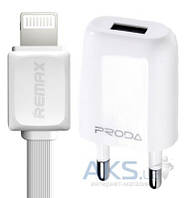Зарядное устройство Remax RP-U11 + Lightning (1A) White