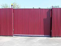 Раздвижные ворота установка