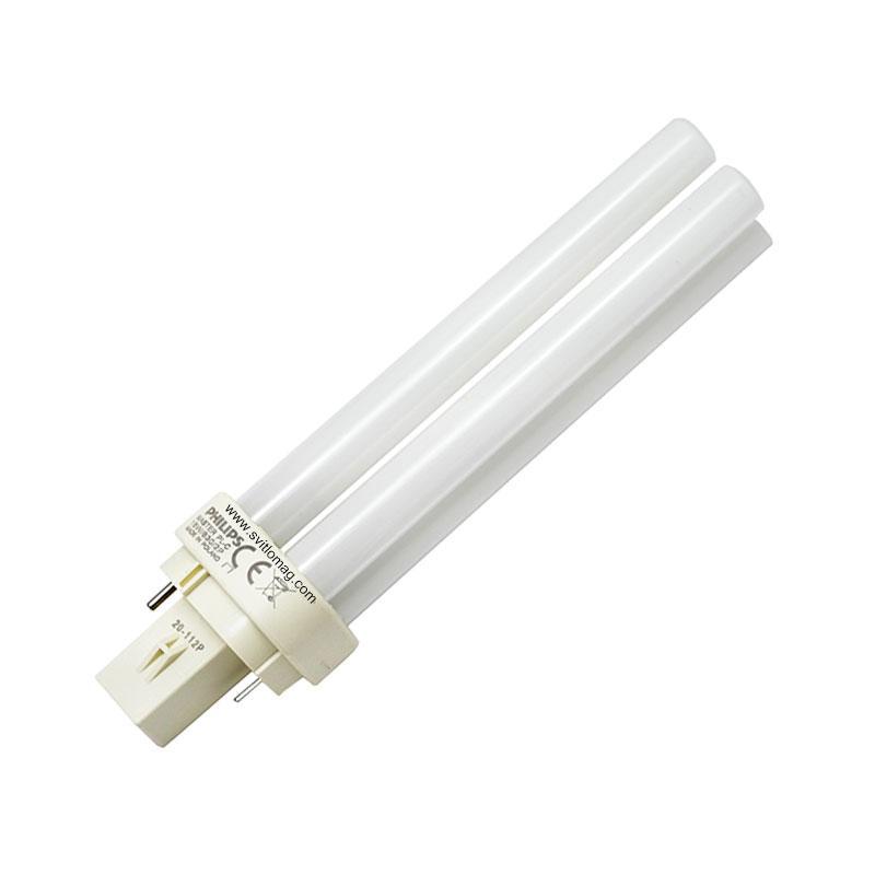 Лампа енергозберігаюча PHILIPS Master PL-З 18w/830/2P G24d-2