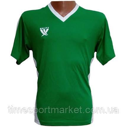 Футболка футбольна SWIFT 2 Flor Tactel (зелено/біла) L р., фото 2