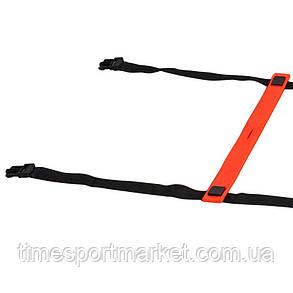 Координаційна сходи SELECT Agillity ladder - indoor (216), оранж/черн (14 ступенів, 6 м), фото 2