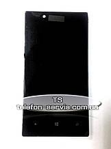 Дисплей для Nokia 720 Lumia с тачскрином и рамкой
