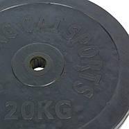 Млинці 30мм 20кг (диски) обгумовані SHUANG CAI SPORTS, фото 2