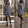 Стильное женское твидовое пальто, размеры 42-52