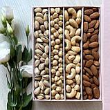 Подарочный набор орехов в прямоугольной коробке на магните, фото 3